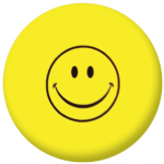 Smiley Face Flag 58mm Keyring
